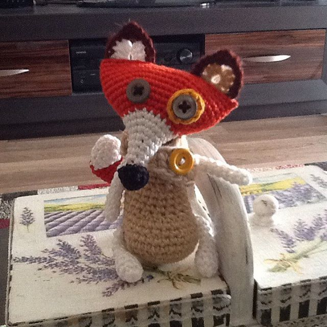 #crochet #fox #handmade #hobby  #amigurumi #button #eyes #crafts…