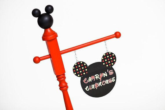 Mickey Mouse Inspired Sign Birthday Party Sign by ElleryDesigns
