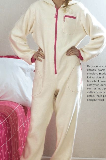 Free adult onesie pattern, PDF, must have free membership. (Pattern, but instructions in old issue of magazine.)
