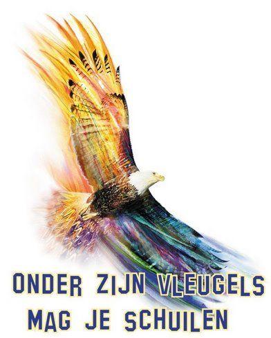 Onder Zijn vleugels mag je schuilen www.relicards.nl