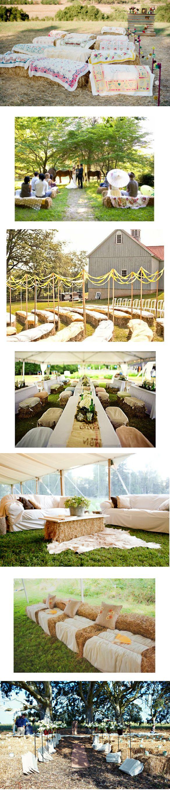 Cérémonie champêtre Tous les accessoires qu'il vous faut pour votre mariage champêtre ! Les bottes de pailles Pour réaliser des bancs (aussi bien pour une cérémonie d'extérieur que pour décorer un ...