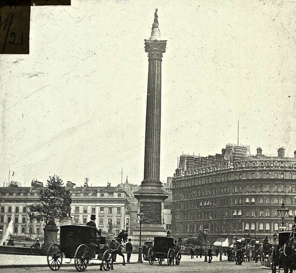 Nelson's Column in Trafalgar Sq, c. 1910