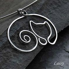 wire jewelry cat - Google Search
