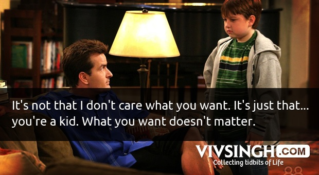 18 Superb Quotes and Moments from the Show Two and a half men Season One