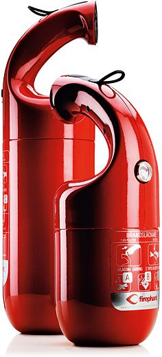 Lars Wettre and Jonas Forsman, Firephant, manufactured by GPBM Nordic Sweden, 2012. A modern fire extinguisher. MODERNMag.