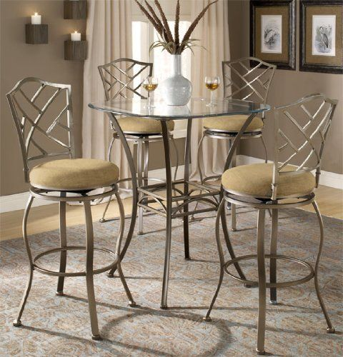Hillsdale Furniture 4815PTBSHR3 Brookside Bistro Dining Pub Set