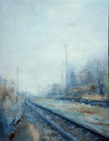 "Saatchi Art Artist Monika Vitanyi; Painting, ""Bahnhof VII:"" #art"