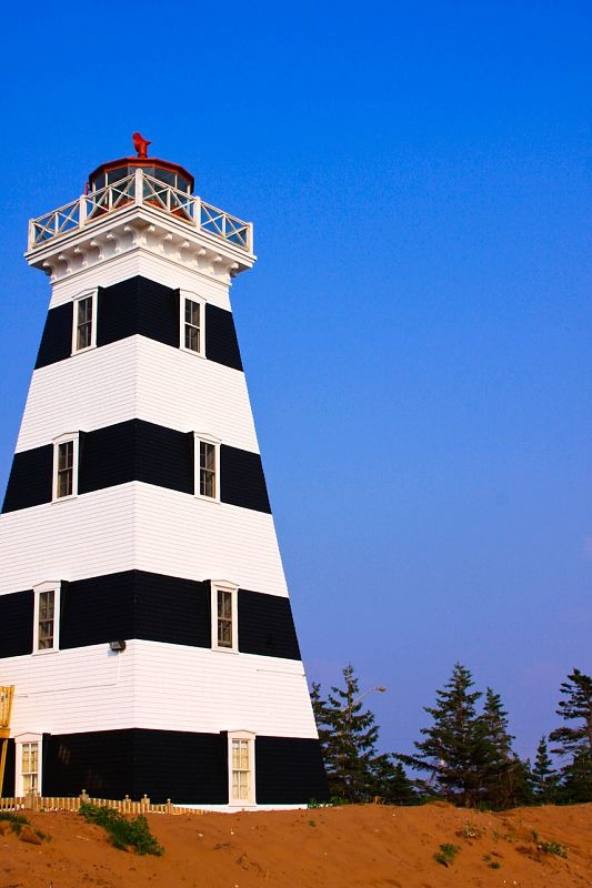 Stayed in the lighthouse on the second level.  Loved it . Love friendly Prince Edward Island