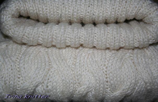 Ручная работа Белый свитер