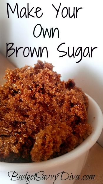 Homemade Brown Sugar Recipe ~T~ another great Save The Day recipe for those baking emergencies.