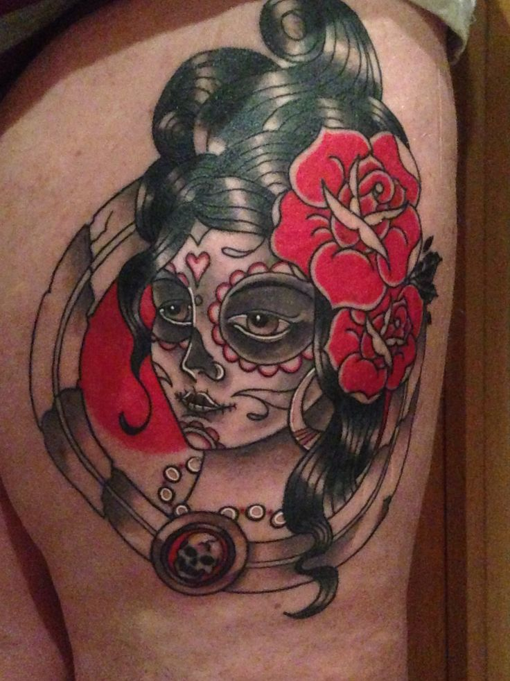 My new tattoo, Persephone.  #DíadeMuertos #dayofthedead #victorian #tattoo