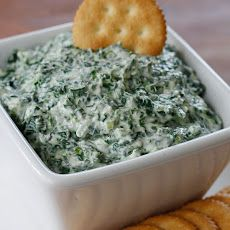 Creamy Parmesan Spinach Dip...good for Thanksgiving appetizer via yummly.com