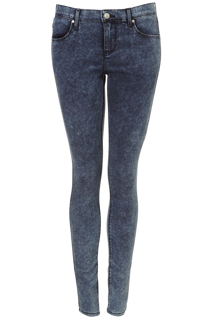 MOTO Acid Supersoft Leigh Jeans - Leigh Skinny Jeans - Jeans - Clothing - Topshop