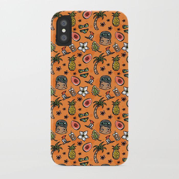 Hawaiian Dreaming - Orange iPhone Case