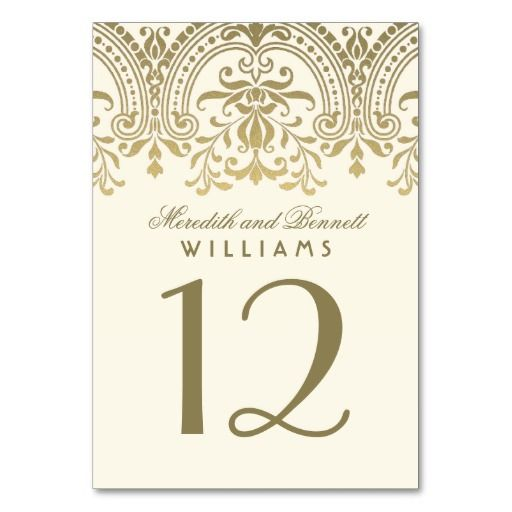 Best Wedding Table Number Cards Images On Pinterest Wedding - Wedding table numbers template