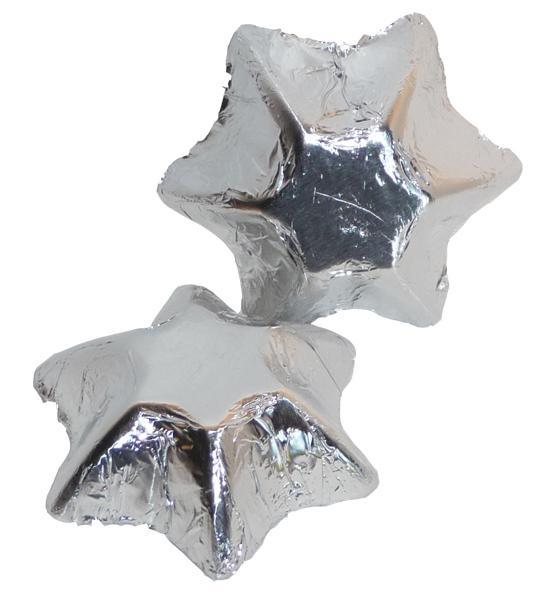Silver Bomboniere Milk Chocolate Stars (1kg)