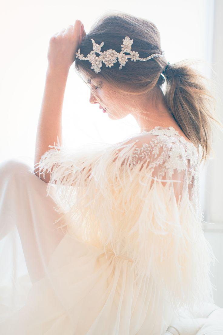 Swoon over jannie baltzer s wild nature bridal headpiece collection - The Jannie Baltzer 2016 Bridal Headpiece Veil Collection