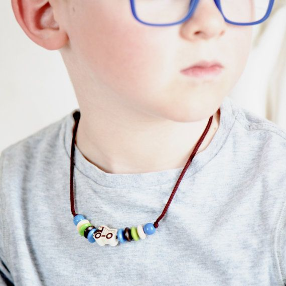 Boy necklace, car necklace, truck necklace, toddler necklace, truck, tonka, wood product, children necklace, toddler gift, kids accessories