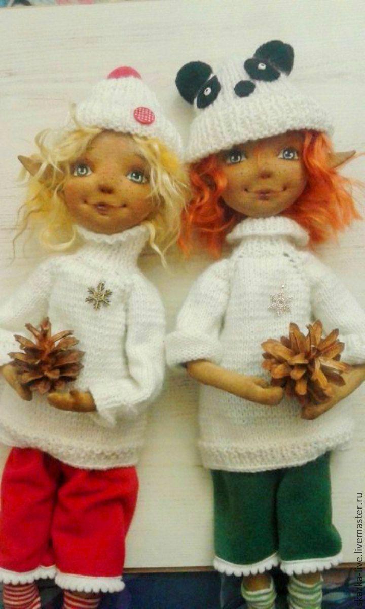 Купить Рыжий эльф Алекс - кукла текстильная авторская - зеленый, эльф, мальчик эльф