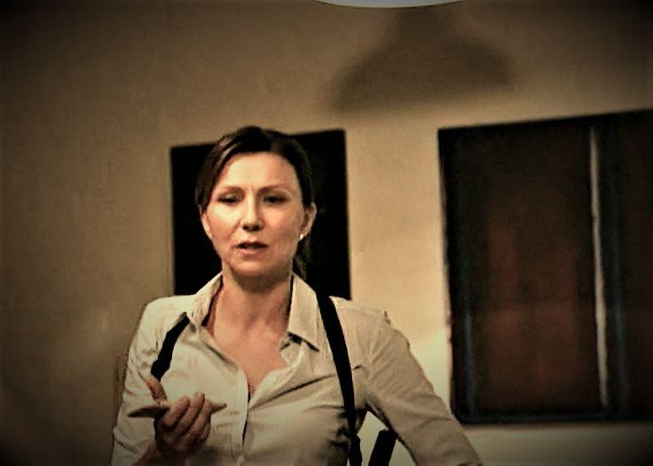 Bianca Grieve + Gun holster    Anita Hegh in Janet King. Bianking.