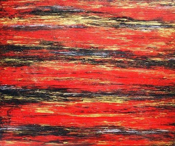 Red Wave, Acrylic on canvas, 120cm x 90cm, Artist : Aliyas