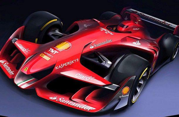 Koncept budoucí F1 v podání Ferrari.