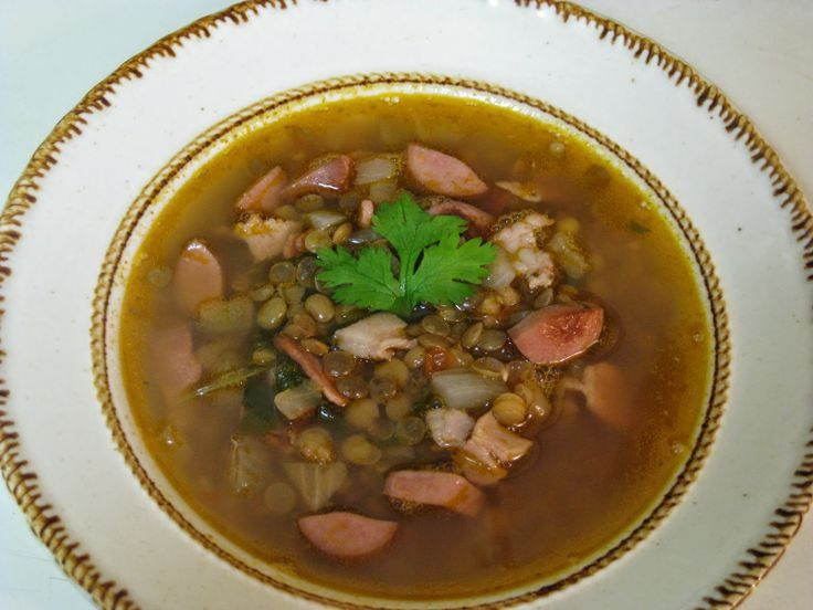 Lentil bean Soup my favorite! Just add onion, garlic, tomato, cilantro, jalapeno,bacon, sausage and salt to taste.