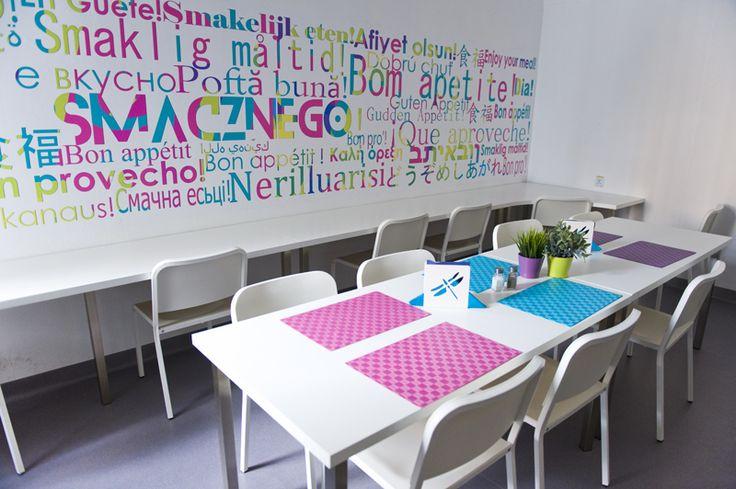 Dinning Room at Patchwork Hostel. Warsaw, Poland.