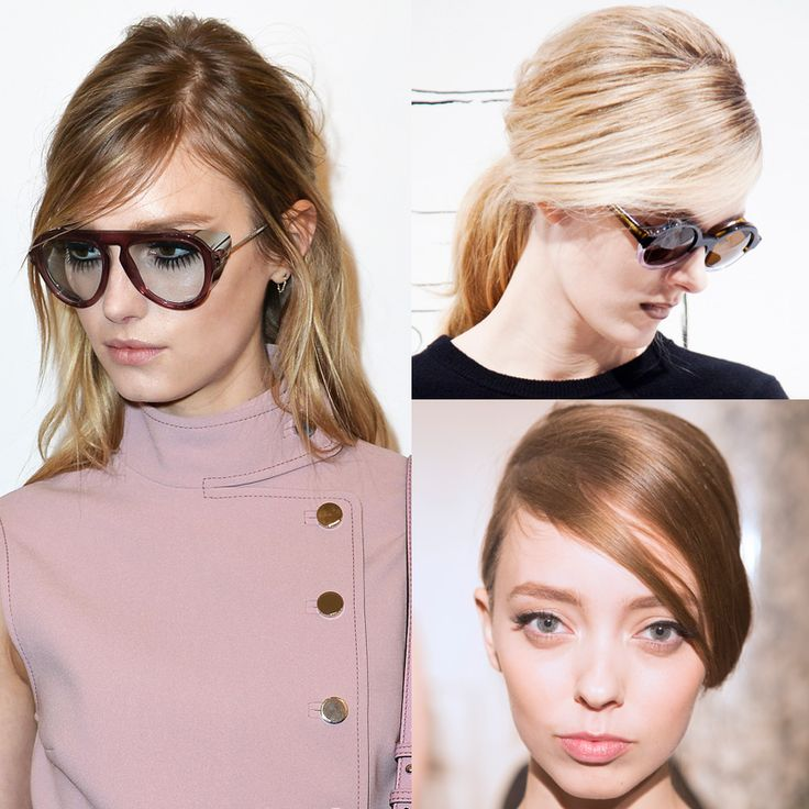 Fall 2014 - hair trend - 60's inspired hair. Deep side parts, side swept bangs and subtle teasing lent a decidedly retro feel to the ladies at Gucci, Band of Outsiders and Erin Fetherston