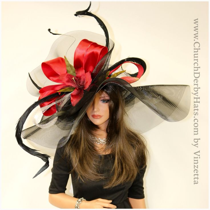 Gorgeous Kentucky derby hats by #Vinzetta only at www.ChurchDerbyHats.com