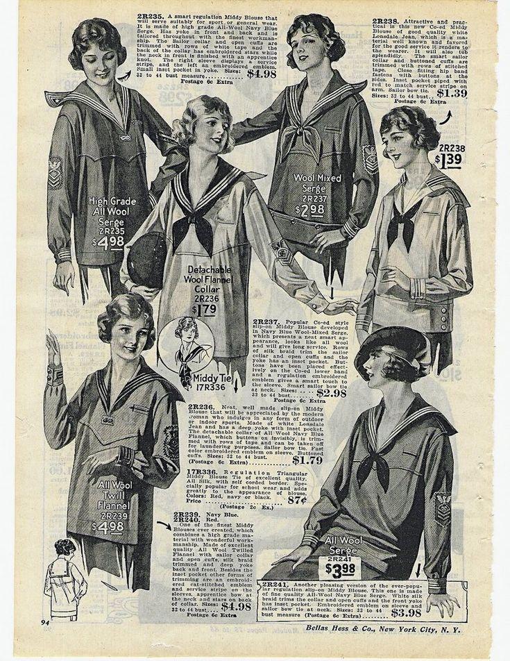 Продолжим? Второе десятилетие 20 века-золотой век матроски. Матросский стиль-основное направление в моде тех лет Sears пишет в 1915 году: Матроска-это всегда…