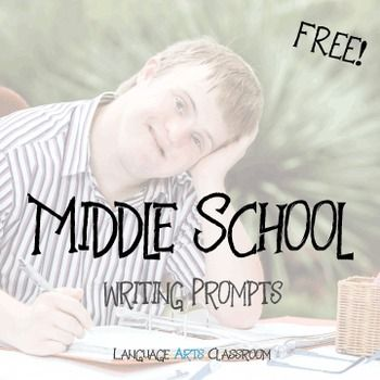 FREE Twenty middle school writing prompts! Use these as bell ringers, for inclusion in journals, or as a way to end class. This product contains 20 writing prompts. I used these with my seventh graders for their journals, which they did every day. The topics have great range, and should create some interesting ideas.