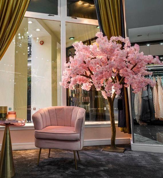 Uk New Japanese Cherry Blossom Pink Flower Artificial Tree Etsy Flower Shop Interiors Artificial Cherry Blossom Tree Japanese Cherry Blossom