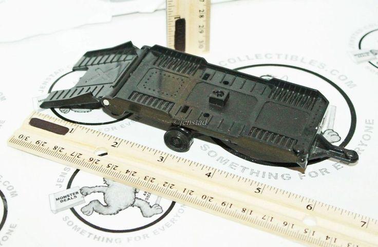 """KENTOYS HITCH-UP TOY BLACK CAR HAULER TRAILER 6.75"""" VEHICLE VINTAGE 1998 USED #Kentoys"""