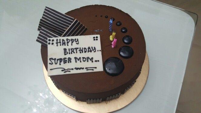 Belgian choco for mom birthday cake