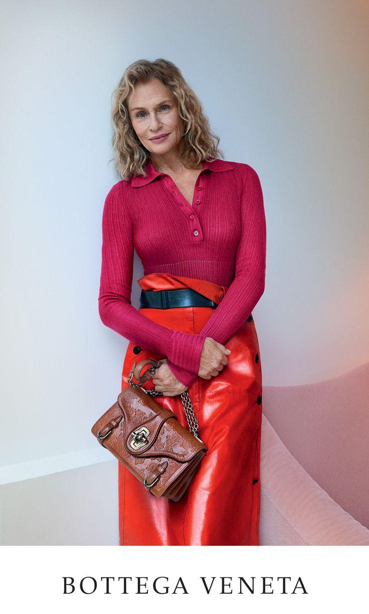 73-year old supermodel Lauren Hutton in Bottega Veneta campaign for 50th brand's annivarsary.