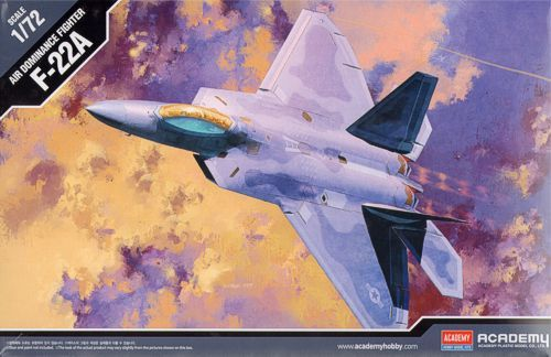 Boeing F-22A Raptor. Academy, 1/72, injection, No.12423. Price: 19,99 GBP.