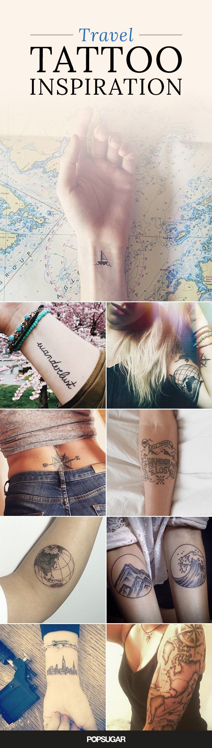 Warning: Only committed travelers allowed. If you have a never-ending case of wanderlust, this awe-inspiring ink is perfect for you.