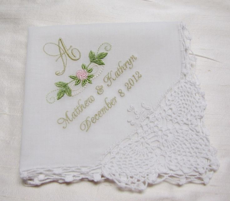 Best wedding handkerchief ideas on pinterest mother