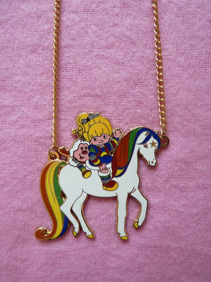 Vintage Rainbow Brite 80s Cartoon Necklace by CartoonJunk on Etsy, £9.99