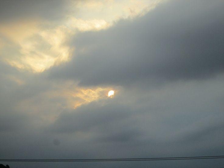 Céu encantador em dia de chuva