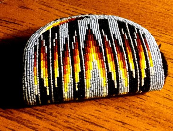 Fully beaded coin purse by Tumukwu (Chenoa Williams, Paiute) on Etsy