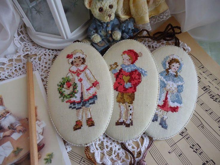 superbe !!!  Уютный дом от Юлии Архиповой: Винтажные елочные украшения с вышивкой