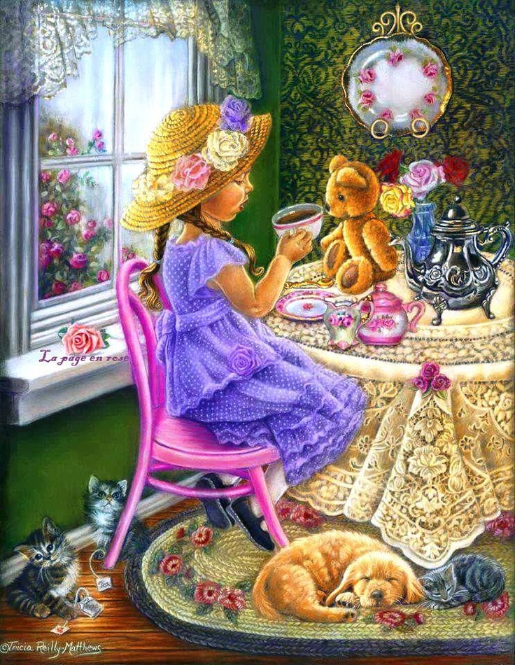 'Tea Party' - Tricia Reilly-Matthews' pastel