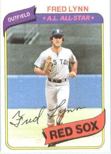 1980 Topps # 110 Fred Lynn Boston Red Sox Baseball Card by Topps. $2.88. 1980 Topps # 110 Fred Lynn Boston Red Sox Baseball Card