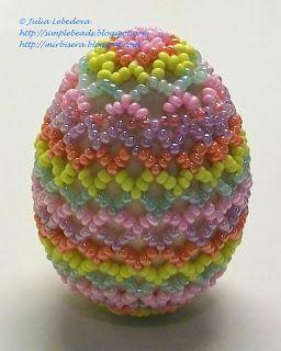 Бисероплетение для самых-самых начинающих: Пасхальные яйца из бисера и другие подарки к Пасхе