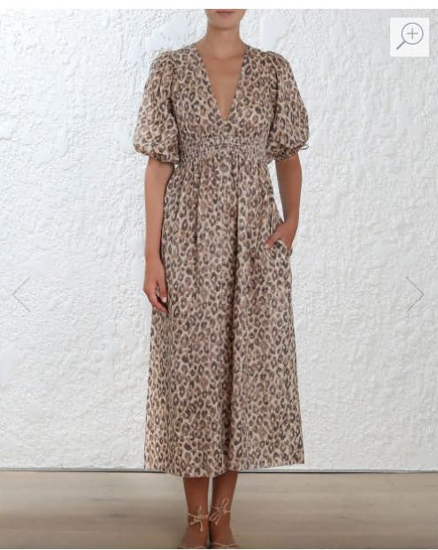 2018 Zimmermann Dress Zimmermann MELODY SHIRRED WAIST DRESS