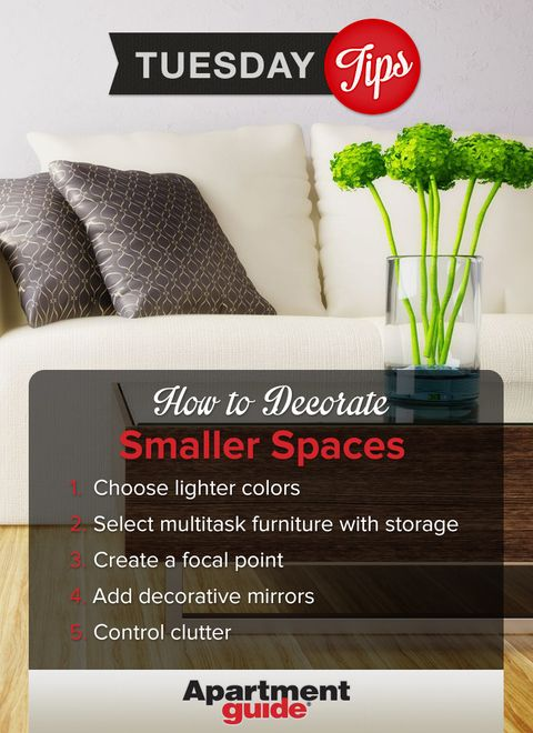 A smaller space doesn't mean you need to skimp on style. Follow these. Apartment  GuideApartment ...