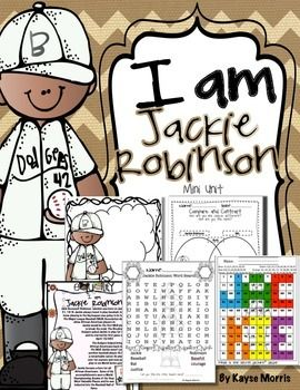 Jackie Robinson Black History Month Jackie Robinson Mini Unit https://www.teacherspayteachers.com/Product/Jackie-Robinson-Black-History-Month-Jackie-Robinson-Mini-Unit-1062573 #blackhistorymonth #jackierobinson (scheduled via http://www.tailwindapp.com?utm_source=pinterest&utm_medium=twpin&utm_content=post675363&utm_campaign=scheduler_attribution)