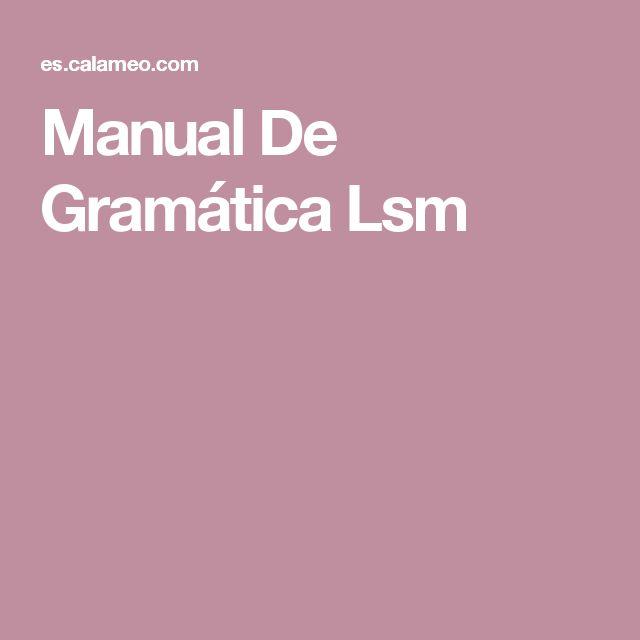 Manual De Gramática Lsm